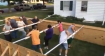 Human Foosball Table